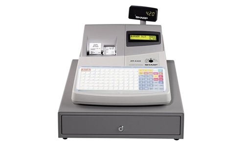 Sharp er a420 cash register for Cash register keyboard template